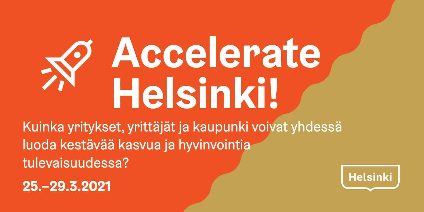 Accelerate Helsinki -tapahtuman mainos
