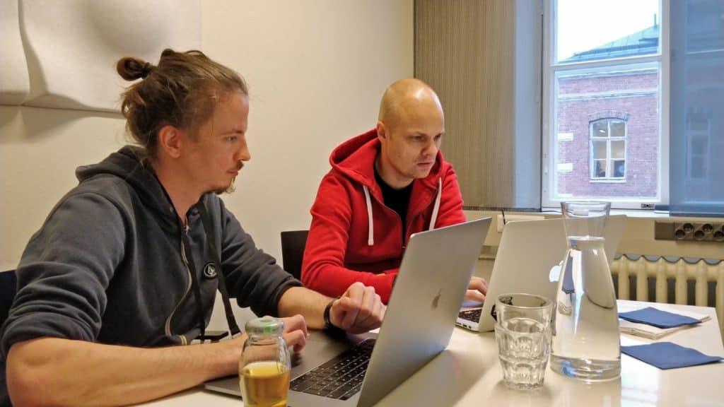 Ville Saukkonen and Lasse Lumiaho