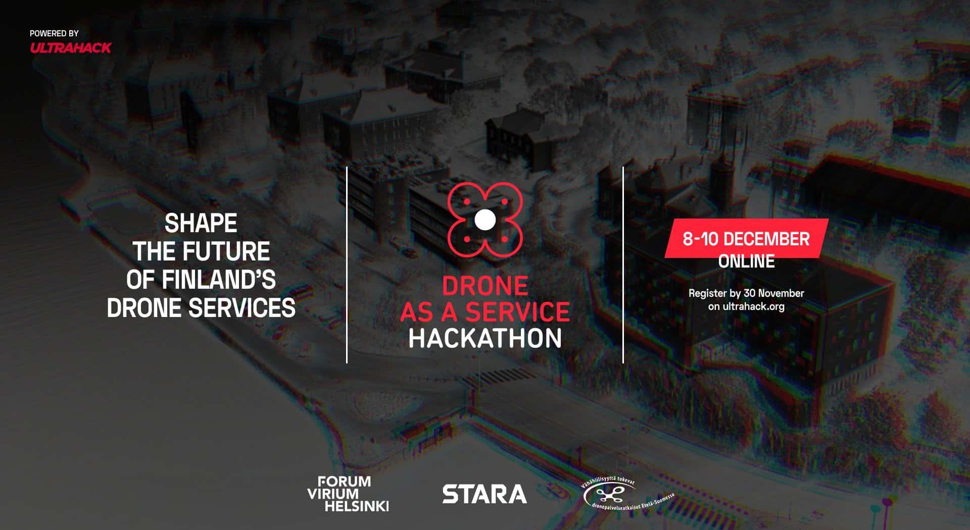 Drone As A Service Hackathonin mainos
