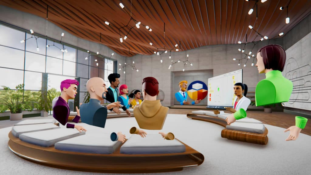 Glue Boardroom virtual lounge.