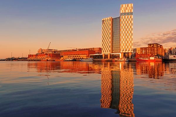 Jätkäsaari ja auringonlasku.