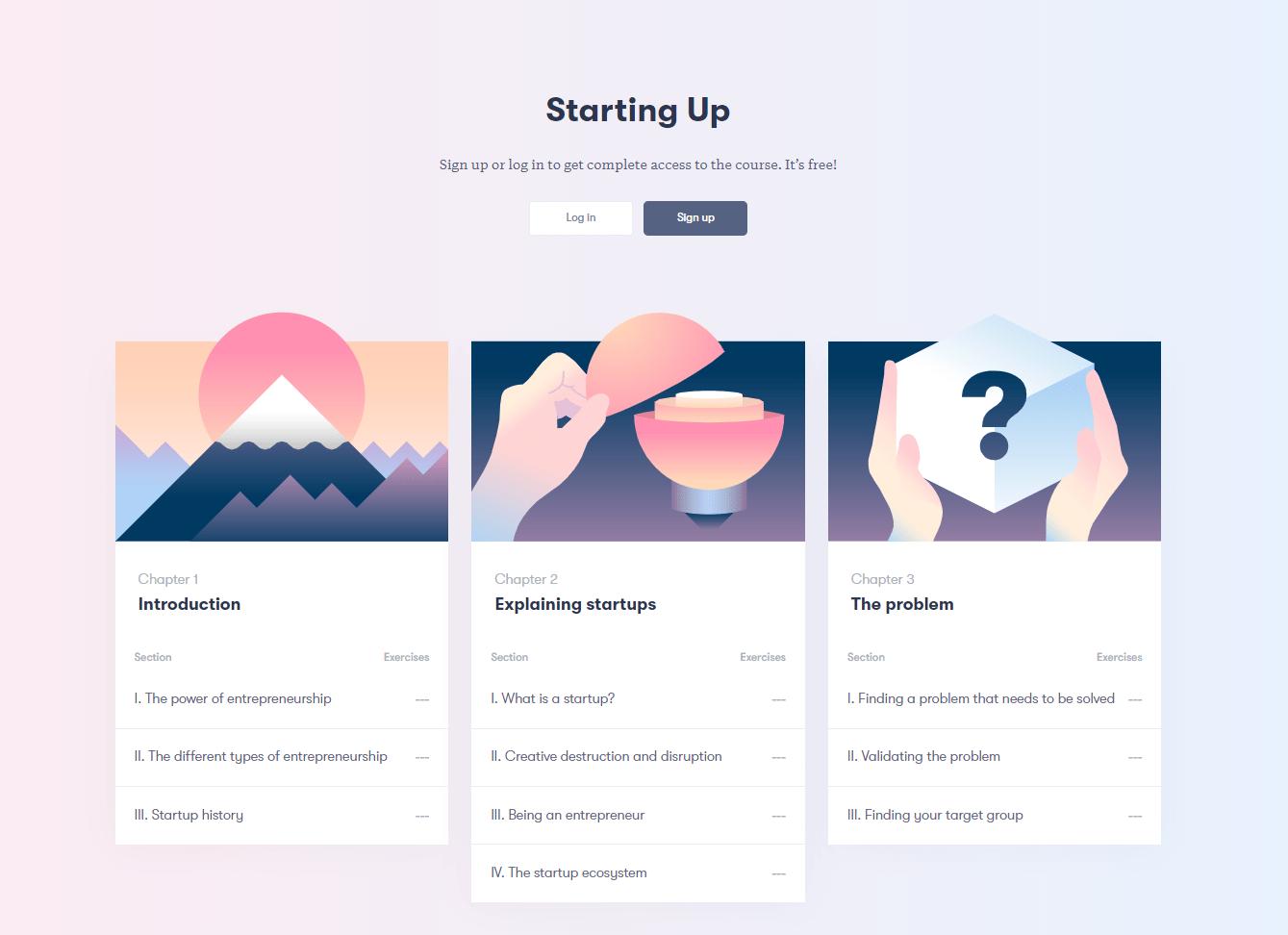 Starting Up -kurssi