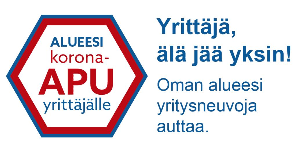 Alueesi korona-apu yrittäjälle -banneri