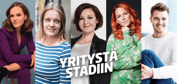 Yritystä Stadiin 2021 puhujat.